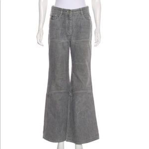 Chanel grey jeans, wide leg